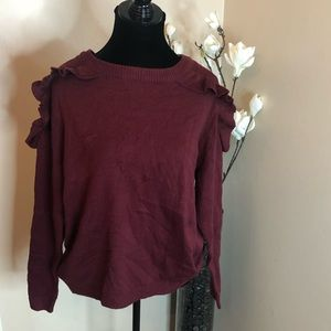 Sweaters - Plus cranberry sweater